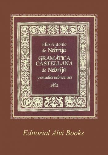 Portada del libro Gramática Castellana de Nebrija