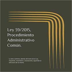 Portada del libro Ley 39/2015 Procedimiento Administrativo Común
