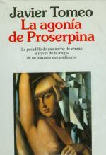 Portada del libro La agonía de Proserpina