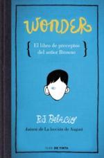 Portada del libro Wonder. El libro de preceptos del señor Browne