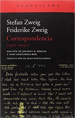 Portada del libro Correspondencia (1912-1942)
