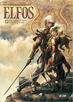 Portada del libro Elfos 7. Feliz el guerrero muerto. El juicio de la fosa