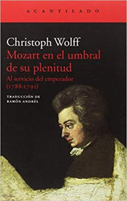 Portada del libro Mozart en el umbral de su plenitud