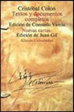 Portada del libro Textos y documentos completos Relaciones de viajes, cartas y