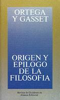 Portada del libro Origen y epílogo de la filosofía y otros ensayos de filosofía