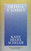 Portada del libro Kant, Hegel, Scheler