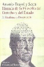 Portada del libro Historia de la filosofia del Derechos y del Estado 3. Ideali