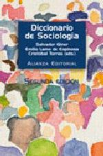 Portada del libro Diccionario de sociologia