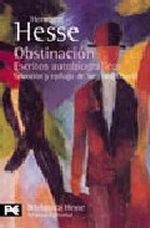 Portada del libro Obstinacion Escritos autobiograficos
