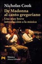 Portada del libro De Madonna al canto gregoriano Una muy breve introduccion a
