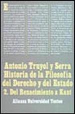 Portada del libro Historia de la filosofia del Derecho y del Estado II. Del Re