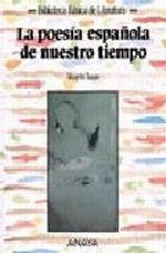 Portada del libro La poesia española de nuestro tiempo