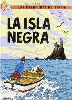 Portada del libro La isla negra. Las aventuras de Tintín