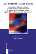 Portada del libro La polemica Schmitt/Kelsen sobre la justicia constitucional: