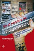 Portada del libro En el nombre de Euskal Herria La religion politica del nacio