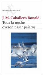 Portada del libro Toda la noche oyeron pasar pájaros
