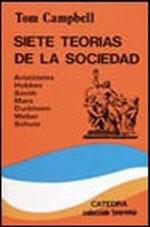 Portada del libro Siete teorias de la sociedad Aristoteles, Hobbes, Smith, Mar