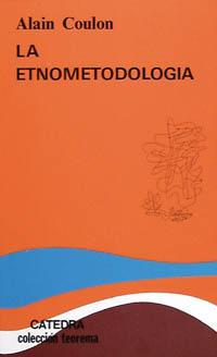 Portada del libro La etnometodologia