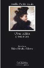 Portada del libro Obra critica 1888-1908