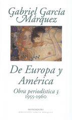 Portada del libro De Europa y América. Obra periodística 3