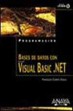 Portada del libro Bases de datos con Visual Basic .NET