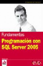 Portada del libro Programacion con SQL Server 2005