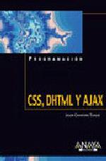 Portada del libro CSS, DHTML y Ajax
