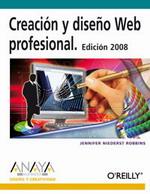Portada del libro Creacion y diseño Web Profesional