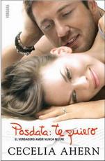 Portada del libro Posdata: te quiero