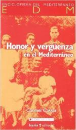 Portada del libro Honor y vergüenza en el Mediterráneo