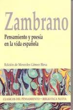 Portada del libro Pensamiento y poesía en la vida española