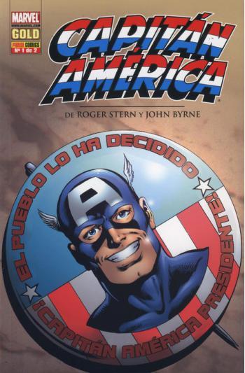 Portada del libro Capitán América de Roger Stern y John Byrne 1
