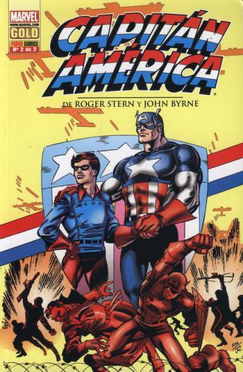 Portada del libro Capitán América de Roger Stern y John Byrne 2