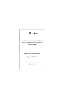 Portada del libro La violencia y la exclusión en Colombia según la percepción de comunidades urbanas pobres