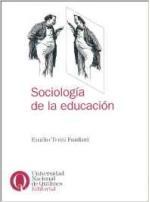Portada del libro Sociología de la educación