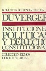 Portada del libro Instituciones políticas y Derecho constitucional