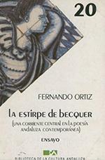 Portada del libro La estirpe de Bécquer, una corriente central en la poesía andaluza