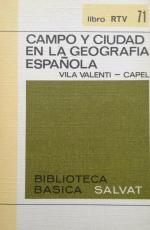 Portada del libro Campo y ciudad en la Geografía española