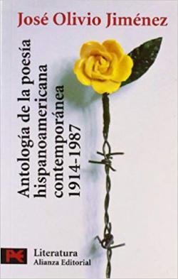 Portada del libro Antología de la poesía hispanoamericana contemporánea (1914-1987)
