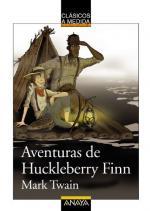 Portada del libro Aventuras de Huckleberry Finn