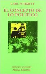 Portada del libro El concepto de lo político