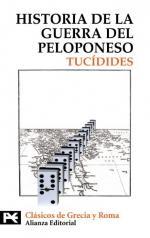 Portada del libro Historia de la guerra del Peloponeso