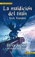 Portada del libro La maldición del titán. Percy Jackson y los dioses del Olimpo III