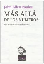 Portada del libro Más allá de los números: Meditaciones de un matemático
