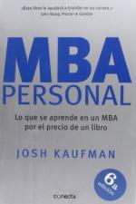 Portada del libro MBA Personal