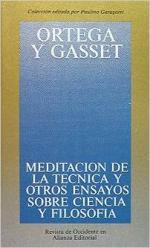Portada del libro Meditación de la técnica y otros ensayos sobre ciencia y filosofía