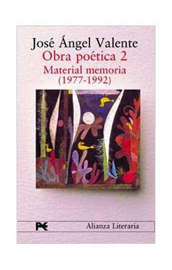 Portada del libro Obra poética. 2. Material memoria (1977-1992)