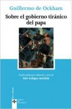 Portada del libro Sobre el gobierno tiránico del papa