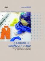 Portada del libro La calidad del español en la Red