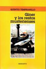 Portada del libro Giner y los restos musterienses